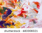 painted abstract background | Shutterstock . vector #683308321