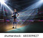 female professional volleyball... | Shutterstock . vector #683309827