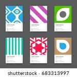 raster bright trendy vertical...   Shutterstock . vector #683313997