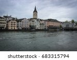 view of zurich old town and... | Shutterstock . vector #683315794