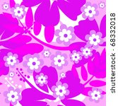 seamless hibiscus flower... | Shutterstock .eps vector #68332018