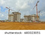 construction of a residential... | Shutterstock . vector #683323051
