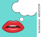 female lips and speech bubble... | Shutterstock .eps vector #683325199