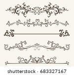 vector set of decorative... | Shutterstock .eps vector #683327167