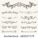 vector set of decorative... | Shutterstock .eps vector #683327179