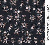floral seamless pattern of... | Shutterstock .eps vector #683328655