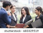 business people have a meeting... | Shutterstock . vector #683329519