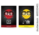 sale poster for online shopping ... | Shutterstock .eps vector #683333401