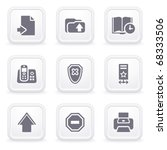 internet icons on gray buttons 4 | Shutterstock .eps vector #68333506