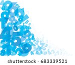 abstract numbers white blue... | Shutterstock .eps vector #683339521
