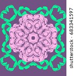ornament on a purple background.... | Shutterstock . vector #683341597