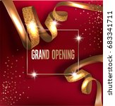 grand opening invitation card... | Shutterstock .eps vector #683341711