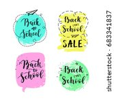 back to school labels  greeting ... | Shutterstock .eps vector #683341837