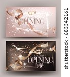 grand opening invitation beige... | Shutterstock .eps vector #683342161