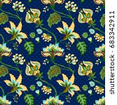 seamless pattern with fantasy... | Shutterstock .eps vector #683342911