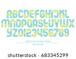 alphabet letters and numbers... | Shutterstock .eps vector #683345299