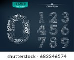 set of numbers technology on... | Shutterstock .eps vector #683346574