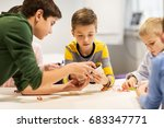 education  children  technology ... | Shutterstock . vector #683347771