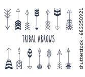 tribal arrow set in native... | Shutterstock .eps vector #683350921