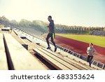 fitness  sport  exercising and... | Shutterstock . vector #683353624
