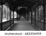 colonnade walkway in buzias ... | Shutterstock . vector #683356909