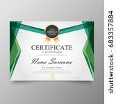 certificate premium template... | Shutterstock .eps vector #683357884
