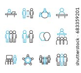 people icon vector set  flat... | Shutterstock .eps vector #683359201