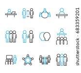 people icon vector set  flat... | Shutterstock .eps vector #683359201