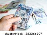 hands counting saudi arabia... | Shutterstock . vector #683366107