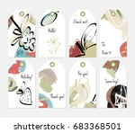hand drawn creative tags.... | Shutterstock .eps vector #683368501