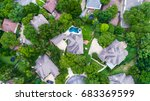 straight down drone view above... | Shutterstock . vector #683369599