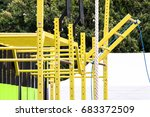 a city sports ground with a bar ... | Shutterstock . vector #683372509