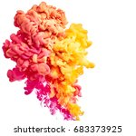 color drop in water isolated on ... | Shutterstock . vector #683373925