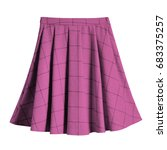 pink checkered pleated cotton... | Shutterstock . vector #683375257