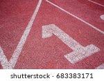 number one start position... | Shutterstock . vector #683383171