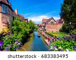 view of the historic town of... | Shutterstock . vector #683383495