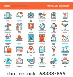 vector set of travel and... | Shutterstock .eps vector #683387899