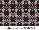 tiled mandala design  best for... | Shutterstock . vector #683387974