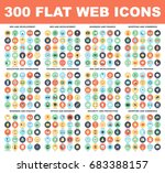 300 flat web icons   seo and...