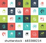 vector set of thinking and... | Shutterstock .eps vector #683388214