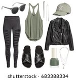 set of stylish clothes ... | Shutterstock . vector #683388334
