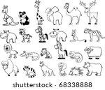 Set Of Animals Including Lion ...
