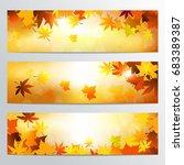 modern autumn banner template   Shutterstock .eps vector #683389387
