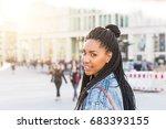 Black Girl Portrait Berlin Backlight - Fine Art prints