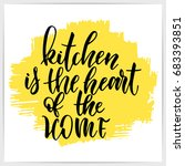 "hand lettering quote ""kitchen... 