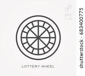 line icon lottery wheel | Shutterstock .eps vector #683400775