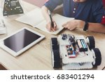 stem education. creating... | Shutterstock . vector #683401294