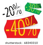 ripped half stickers | Shutterstock .eps vector #68340310