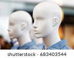 closeup plastic mannequin heads ... | Shutterstock . vector #683403544