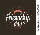 happy friendship day   template ... | Shutterstock .eps vector #683403811